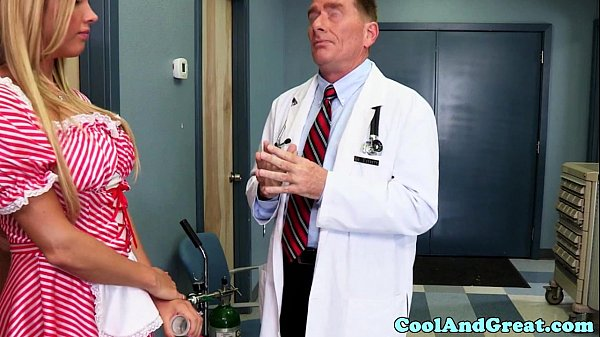 Nurse Samantha Saint gets sperm sample on face Thumb