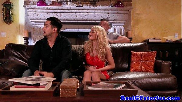 Beautiful busty blonde fucks her horny ex  thumbnail