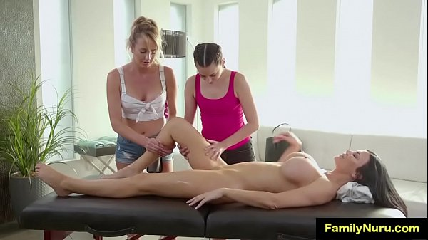 Mom and daughter massage hot milf
