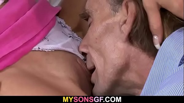 Young chick rides big old dick