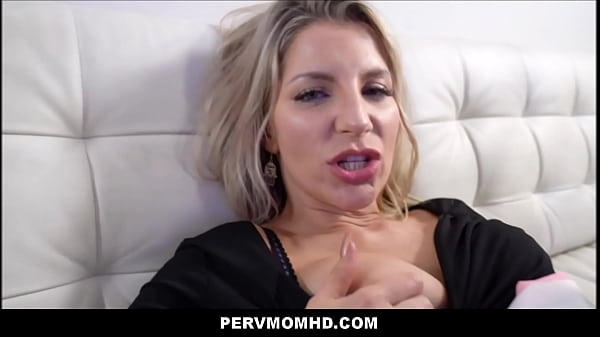 MILF Stepmom Ashley Fires Fucked To Orgasm By Stepson On Family Couch POV