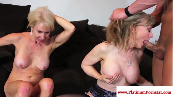 Erica Lauren and Nina Hartley share cock Thumb