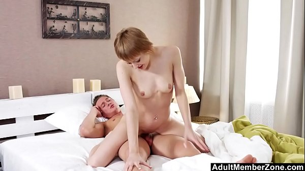 Fucking His Short-Haired Girlfriend In The Ass