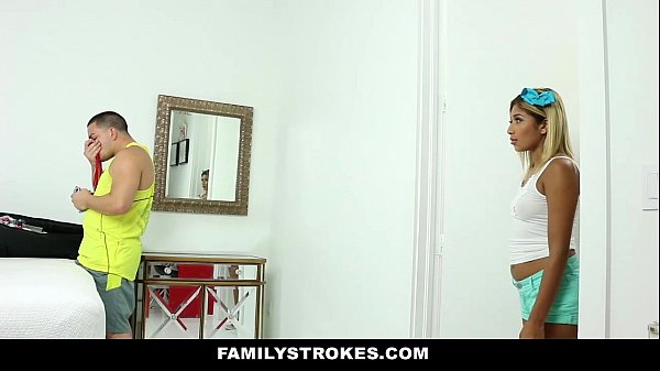FamilyStrokes - Hot StepSis (Ally Berry) Can't Resist Fucking Stepbro