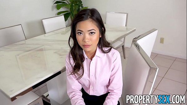 PropertySex - Hot petite Asian real estate agent fucks her boss