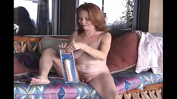 Super hot red haired gilf Donna with dildo