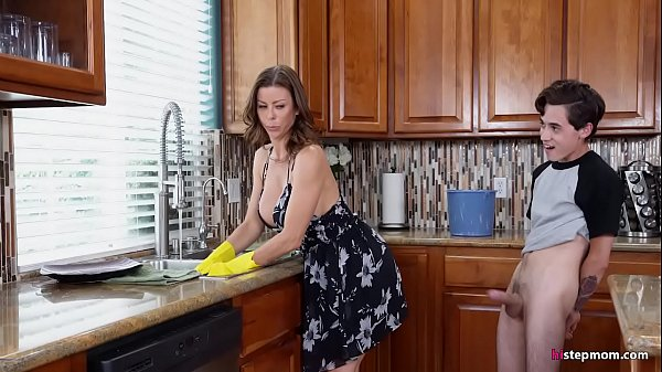 Hot Step Mom Alexis Fawx Cannot do the chores while step s. tries to fuck her nonstop