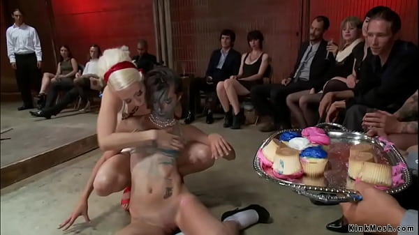 Bound slut messed by food in public Thumb