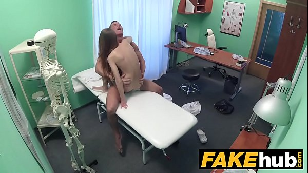 Fake Hospital Sexy reporter gets to the point with blowjob and hard sex Thumb