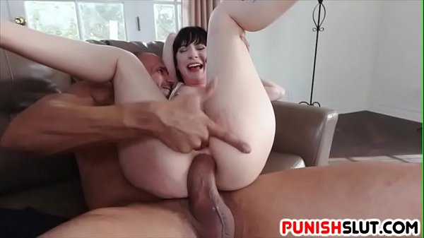 Bound Charlotte Sartre gets some hard anal fucking of her virgin anus