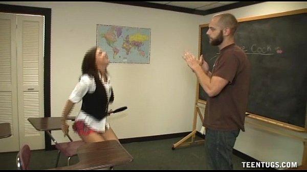 Schoolgirl Jerks Off The Teacher Thumb