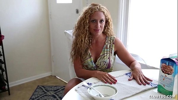 Naughty Milf Strokes A Dick In The Kitchen