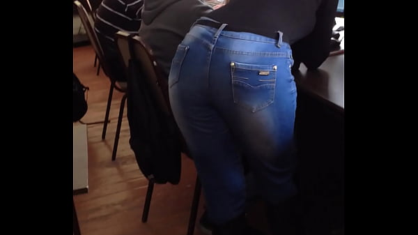 ass in jeans getting cancer