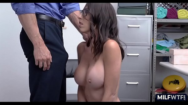 Skinny cougar with huge tits is not happy