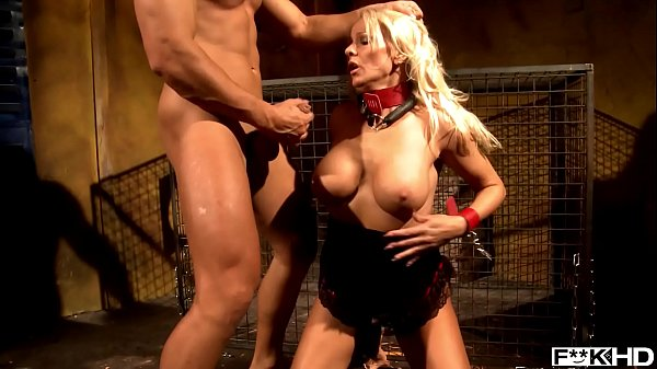 Blonde BDSM Milf Winni gets bound and treated as a dog by dominant stud Thumb