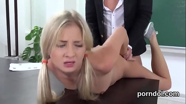 Lovely schoolgirl gets tempted and reamed by her senior schoolteacher