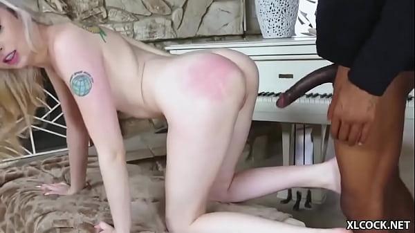 Petite blonde Lexi Lore ravaged by a black stud