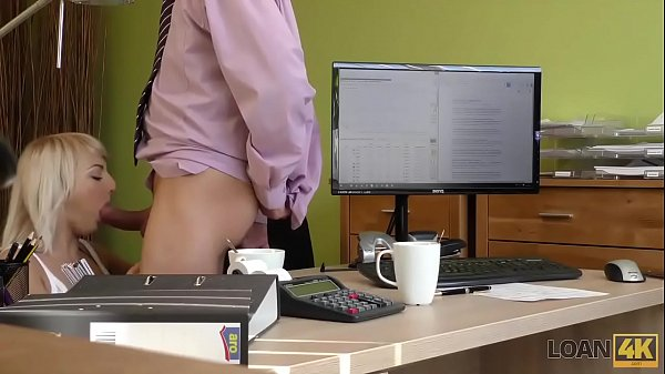 LOAN4K. Brilliant towheaded girl Katy Rose gets money after sex with agent