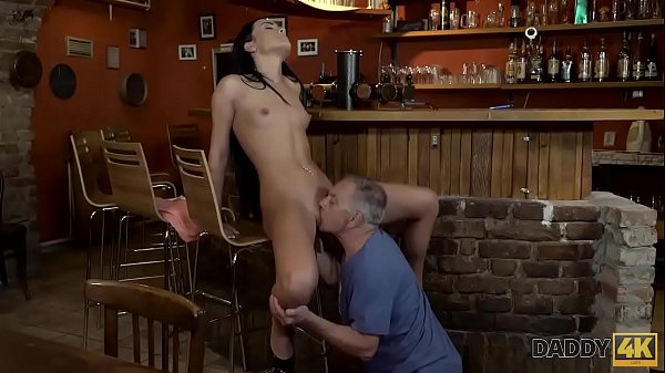 DADDY4K. Daddy invites son and his GF to the bar and fucks cutie Thumb