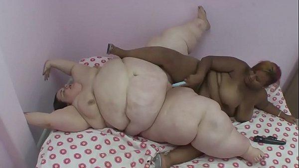 Fat girlfriends enjoy stuffing objects between ...