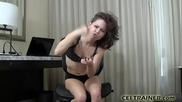 You will eat your cum or face your punishment CEI