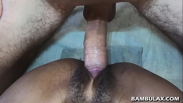 BWC explodes in short haired black pussy hole