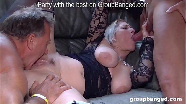More gangbang action with Teresa the horniest mature lady we met
