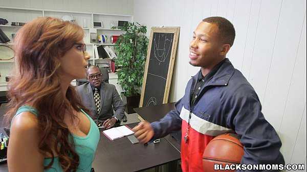 Slutty Mom Sucks off Basketball Players