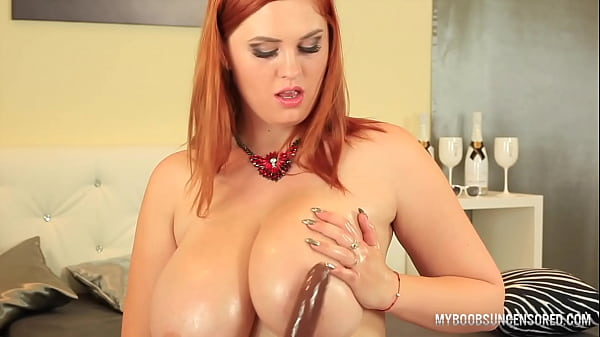 Huge natural Tits Alexsis Fay fucked her boobs by Dildo