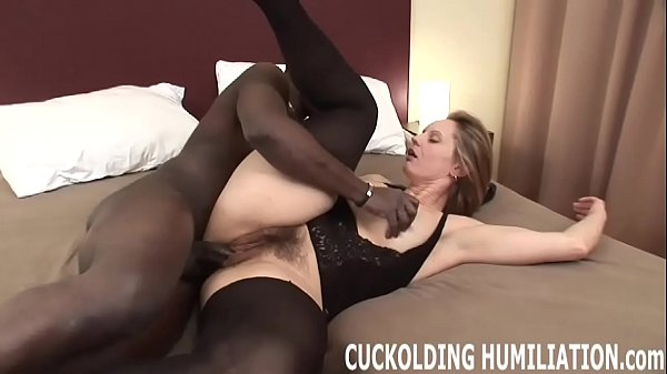 I will c. on his big black cock in front of you