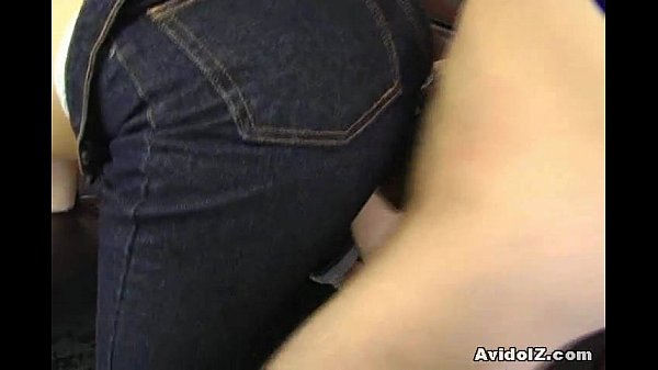 Japanese babe gets fucked in crotchless jeans Uncensored