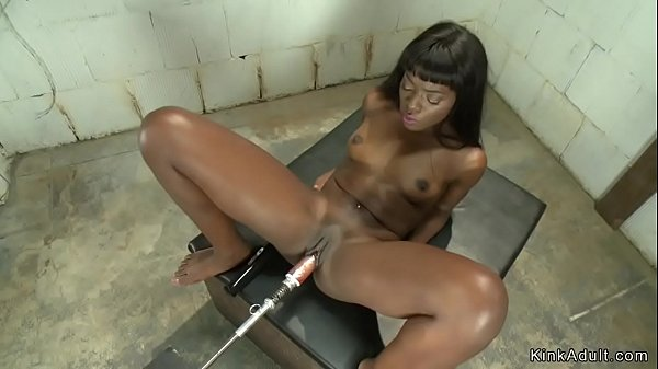 Hot ebony fuck machines and cum
