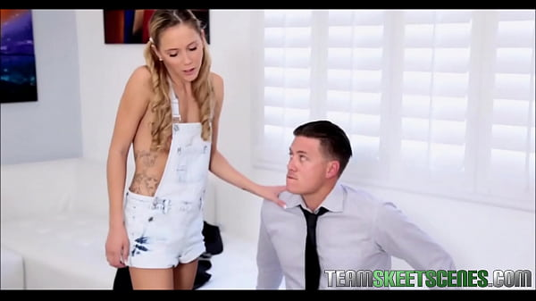 Blonde Teen With Pigtails Babysitter - TeamSkeetScenes.com