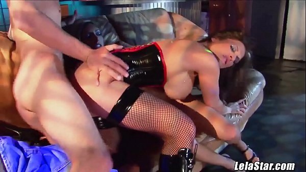 Sharing big dick at the strip club with Lela Star threesome Thumb