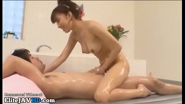 Japanese sensual masseuse takes care of her client