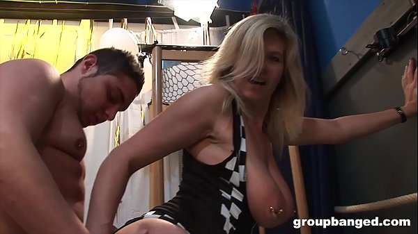 German mature with pierced pussy enjoy blowing a ton of guys