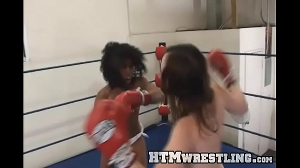 Boxing Bitches Topless Black vs White