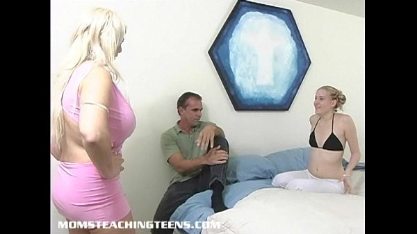 Big tits milf teaches young blonde teen all abo...