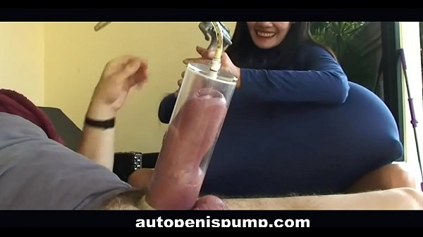 Make penis bigger with pump and girl. You can d...