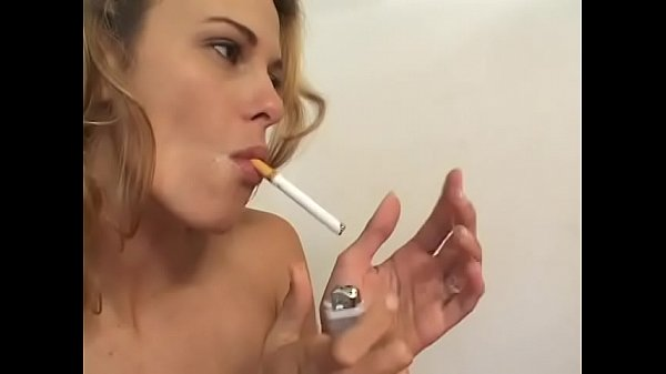 Two smoking babes Samantha Slater and Trinity James use toys and strapon to get plesure whiel fucking