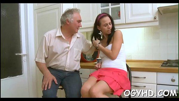 Old dude eats young muff  thumbnail