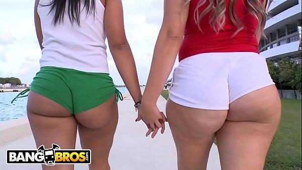 BANGBROS - Kim Manhattan & Duvy Show Off Their Big Asses In Public