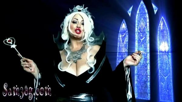 Giantess casting a shrinking spell upon you