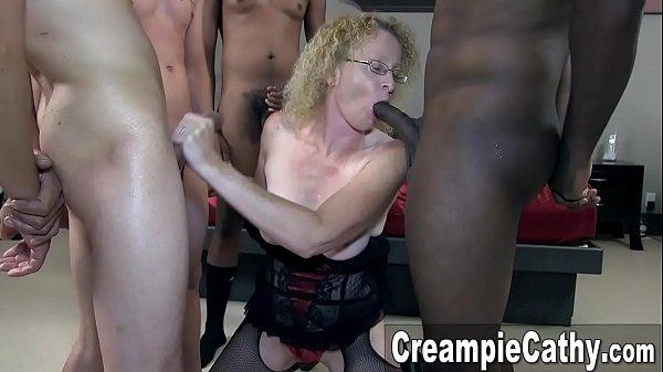 Whore Wife Creampie Gangbang