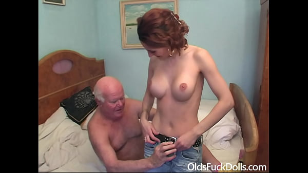 Hot caregiver Sarah Star fucked by grandpa Mireck