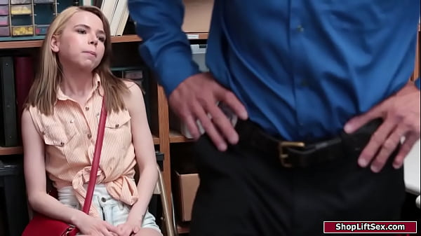 Tiny babe toyed and fucked by an officer
