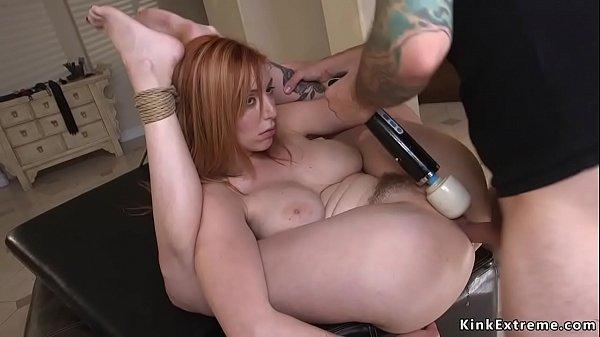 Big butt redhead fucked by lieutenant