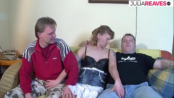 German housewife wants to do her first threesome fuck