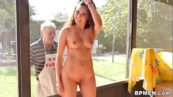 Teen Jeleana Marie Sucks and Fucks Old Men