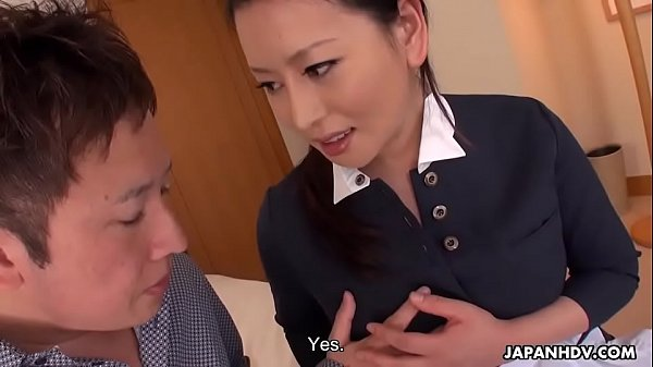 Japanese maid, Rei Kitajima fucks a horny hotel guest, uncensored